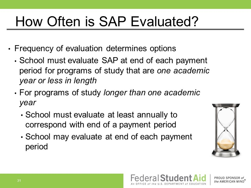 How Often is SAP Evaluated