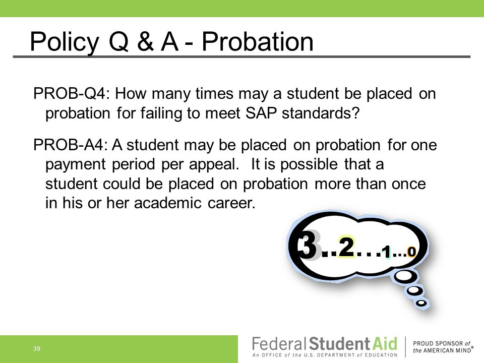 Policy Q & A - Probation