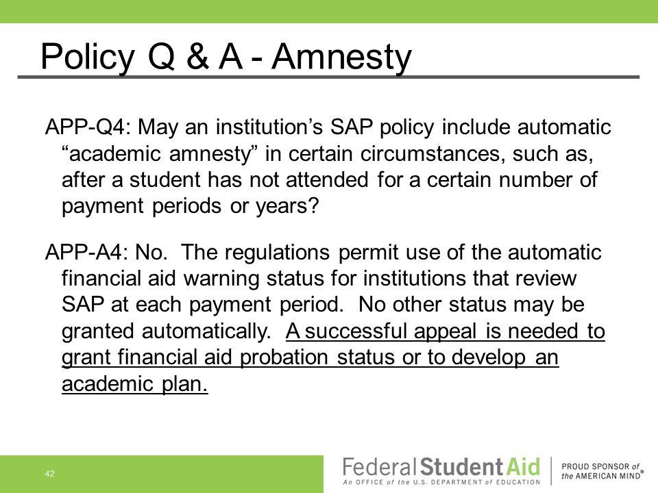 Policy Q & A - Amnesty