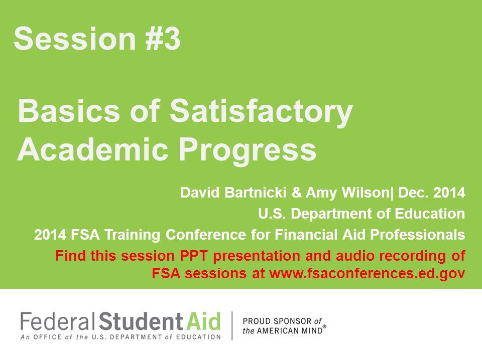 Basics of Satisfactory Academic Progress