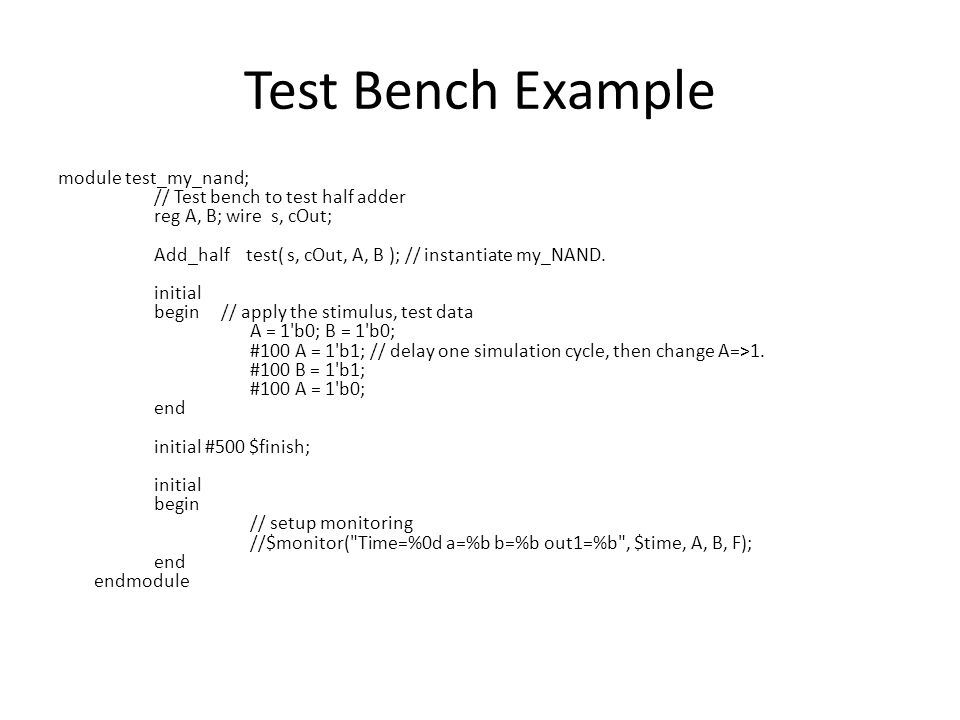 Test Bench Example