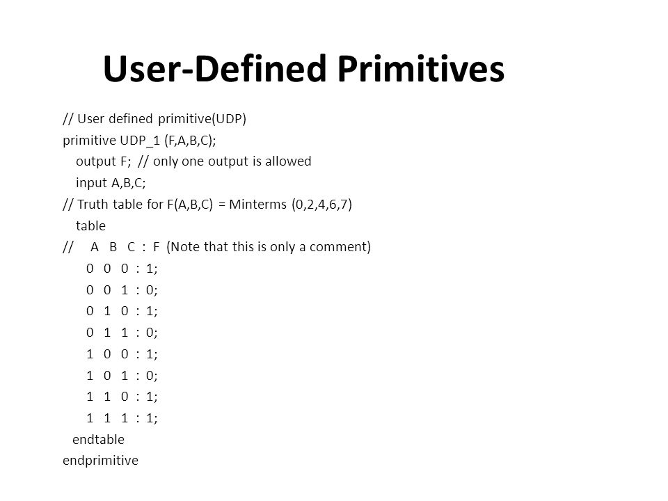 User-Defined Primitives