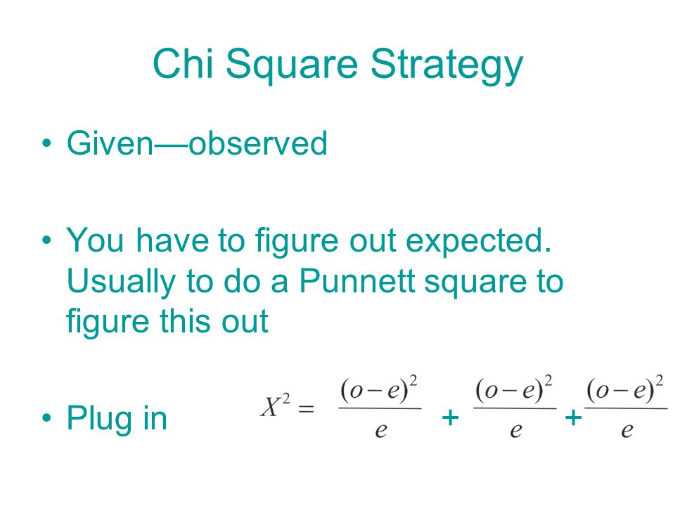 Chi Square Strategy Given—observed