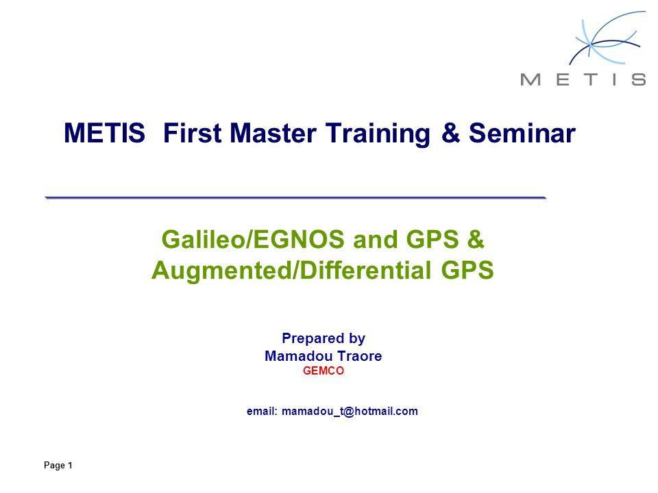 METIS First Master Training & Seminar