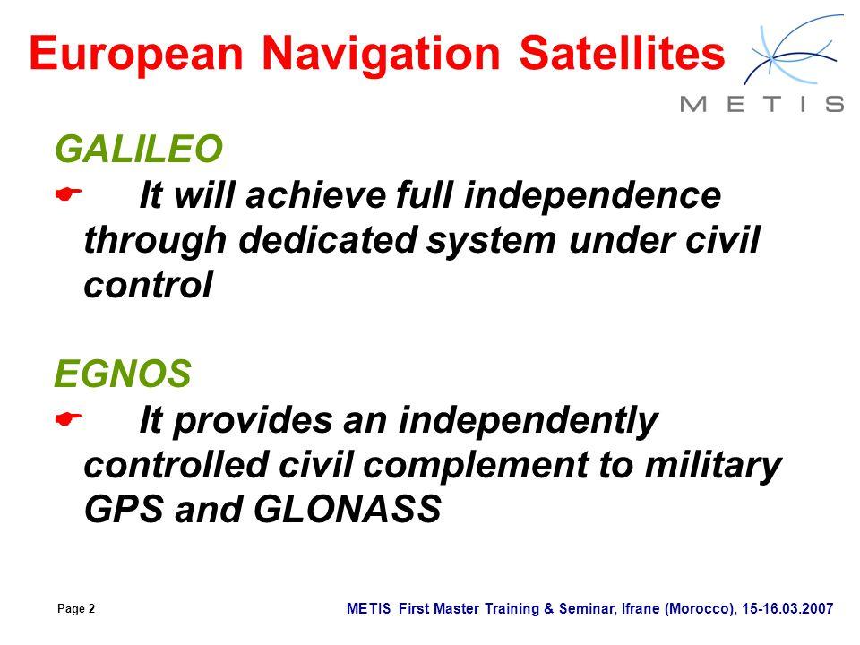 European Navigation Satellites