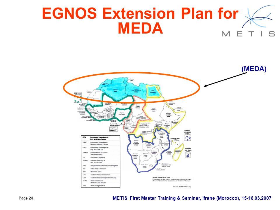 EGNOS Extension Plan for MEDA