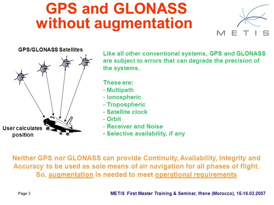 GPS and GLONASS without augmentation