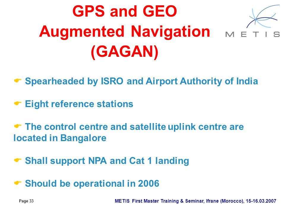 GPS and GEO Augmented Navigation (GAGAN)