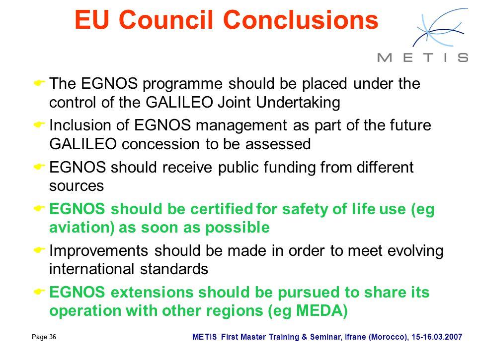 EU Council Conclusions