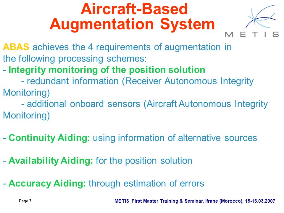 Aircraft-Based Augmentation System
