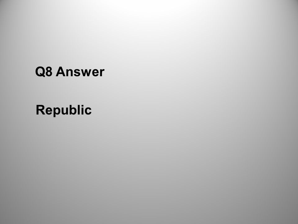 Q8 Answer Republic