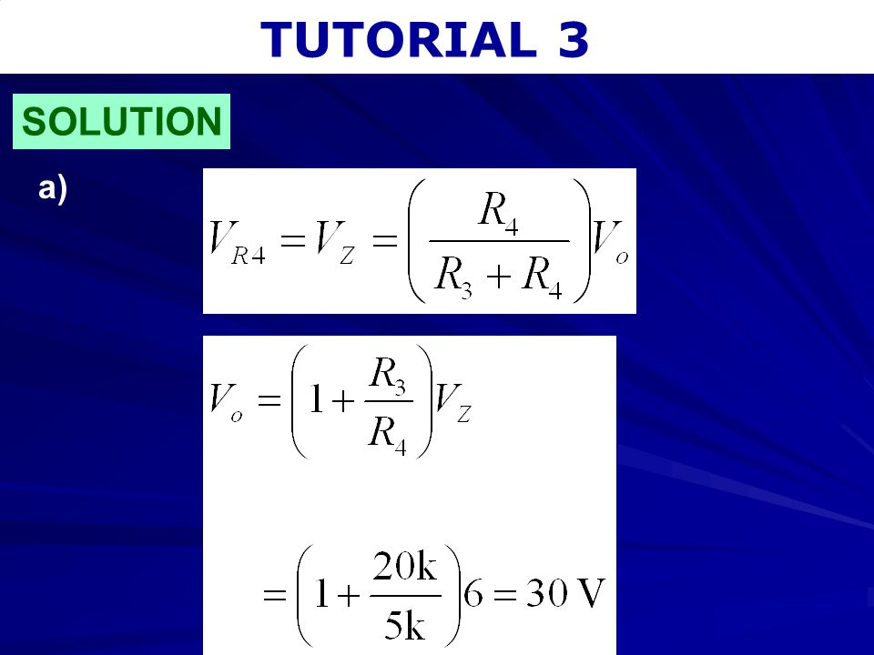 TUTORIAL 3 SOLUTION a)