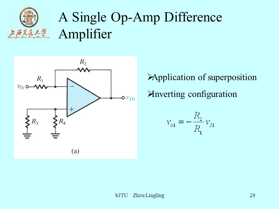 A Single Op-Amp Difference Amplifier