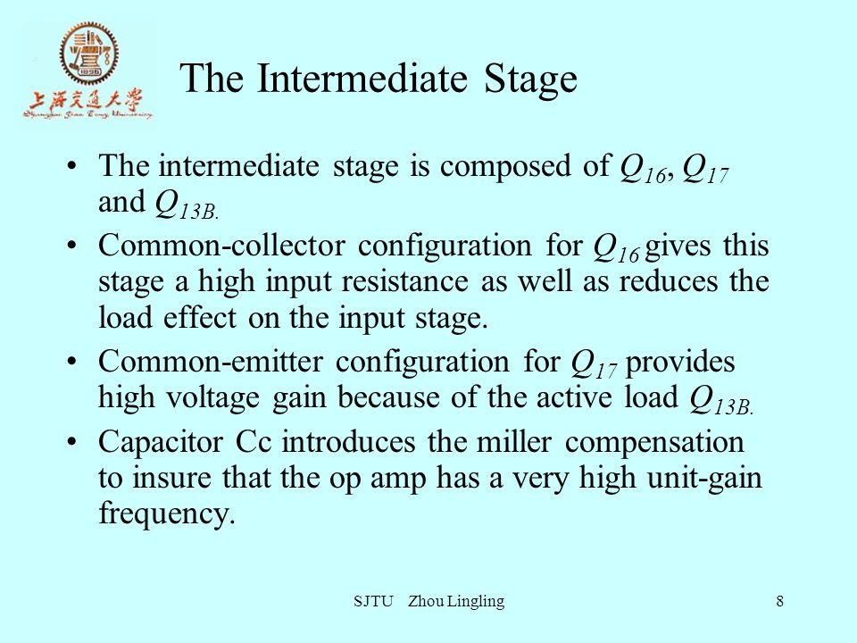 The Intermediate Stage