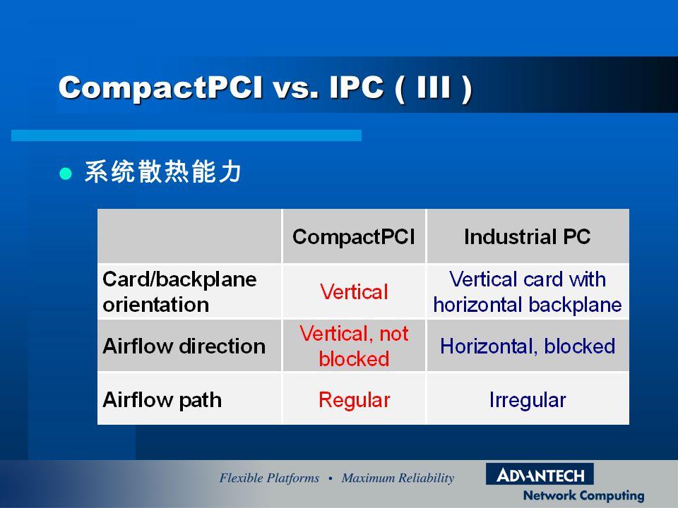 CompactPCI vs. lPC ( III )