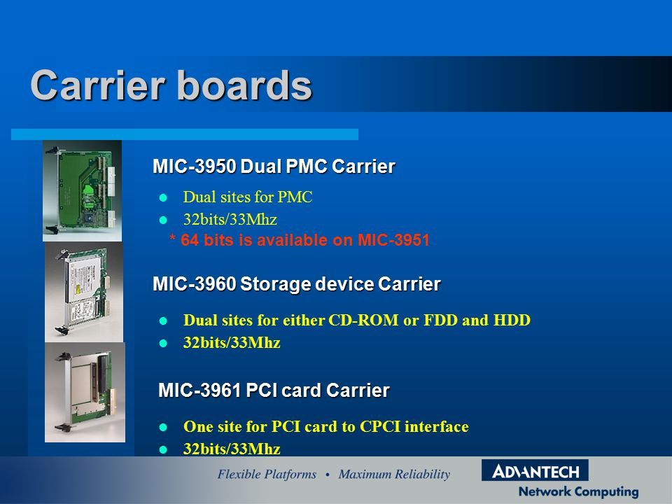 Carrier boards MIC-3950 Dual PMC Carrier