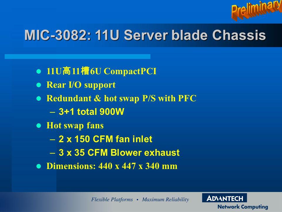 MIC-3082: 11U Server blade Chassis