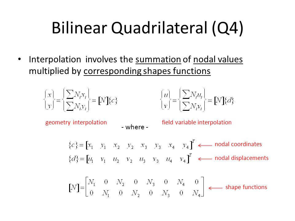 Bilinear Quadrilateral (Q4)