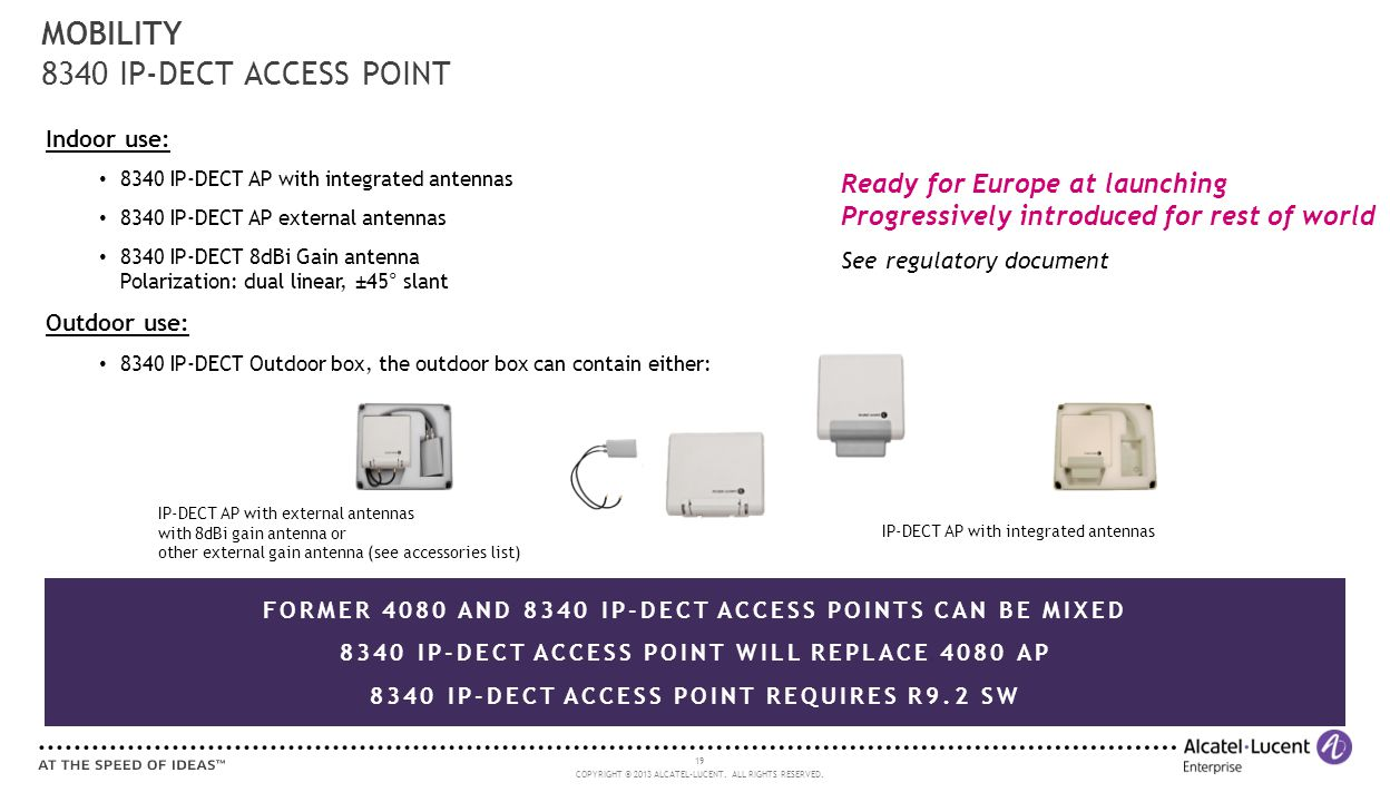 MOBILITY 8340 IP-DECT ACCESS POINT