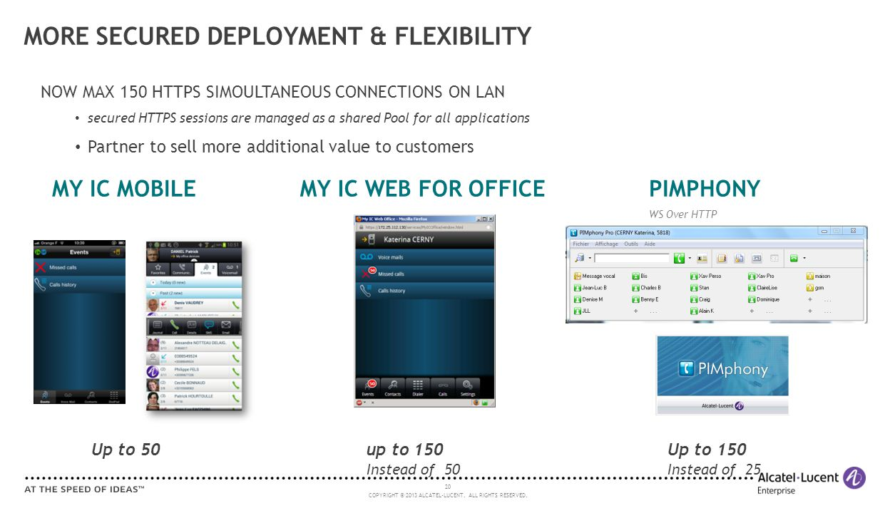 MORE SECURED DEPLOYMENT & FLEXIBILITY