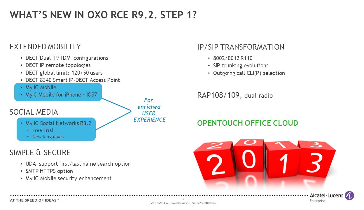 WHAT'S NEW IN OXO RCE R9.2. STEP 1