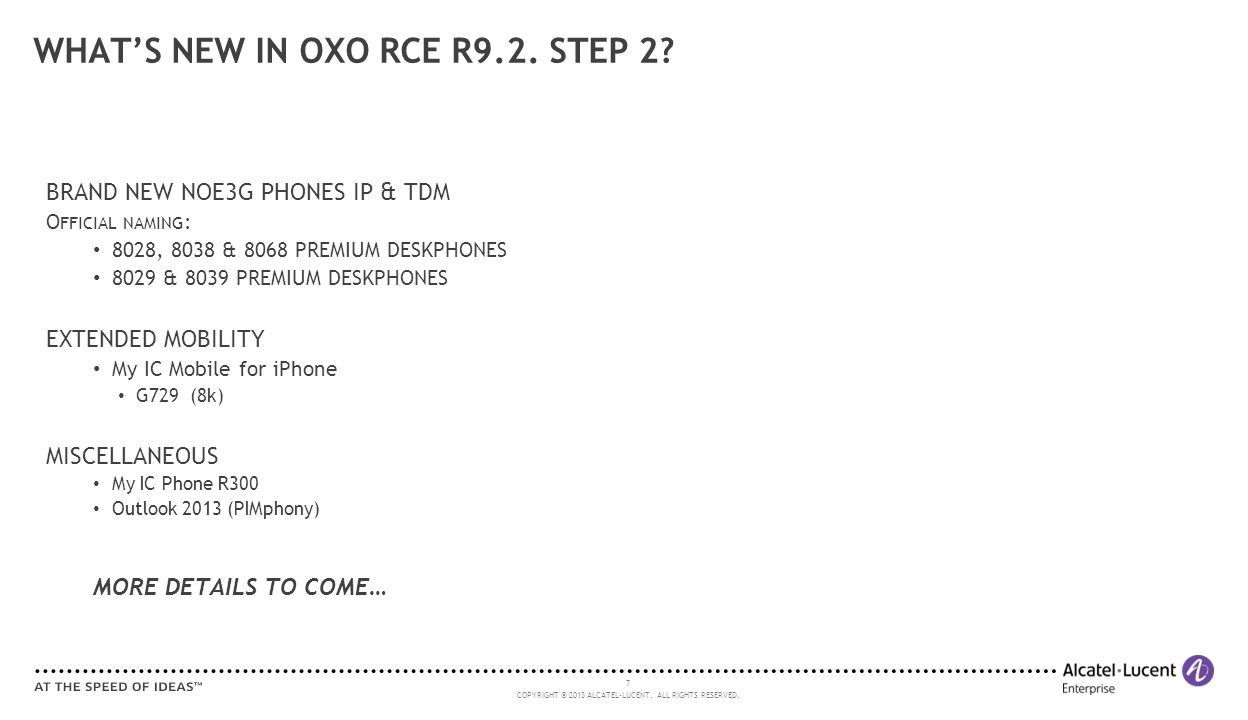 WHAT'S NEW IN OXO RCE R9.2. STEP 2