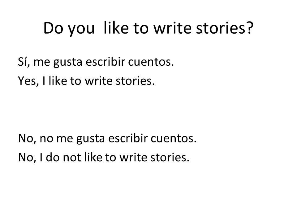 Do you like to write stories