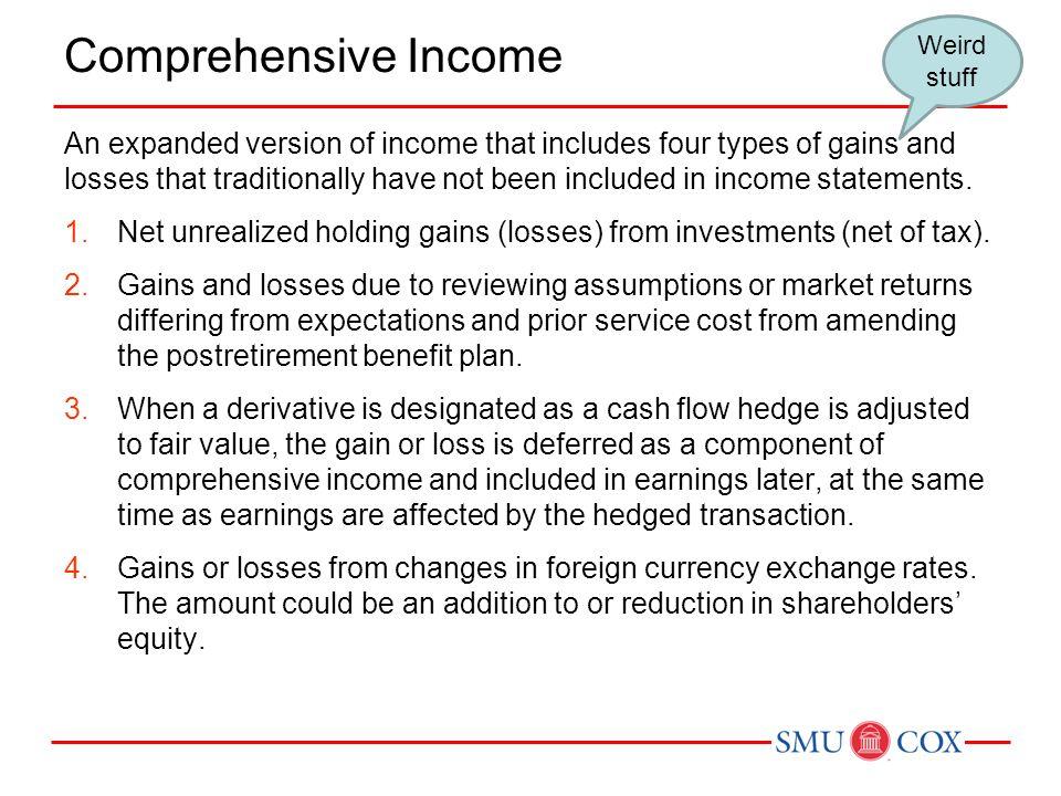 Comprehensive Income Weird stuff.