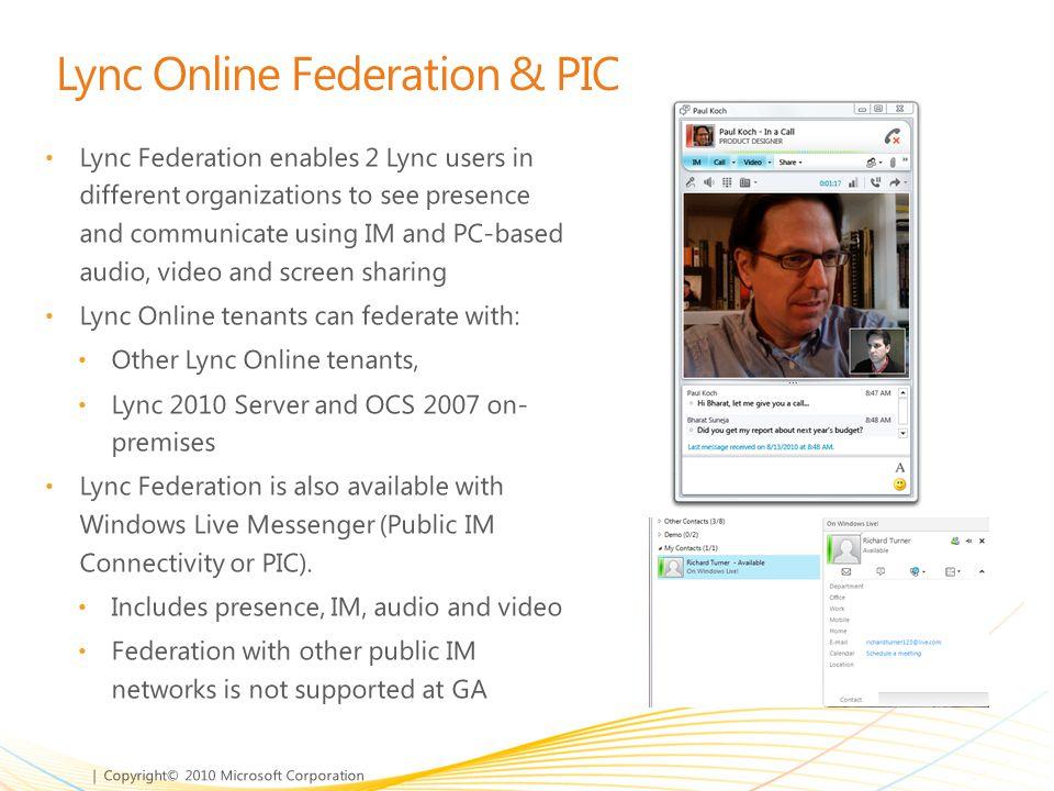 Lync Online Federation & PIC