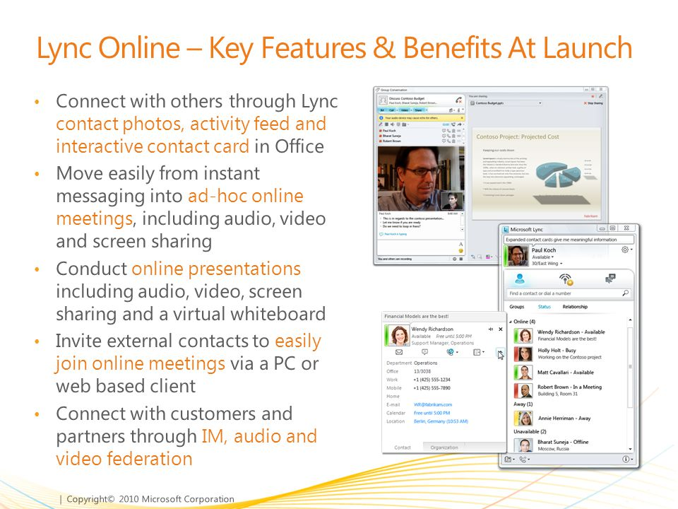 Lync Online – Key Features & Benefits At Launch