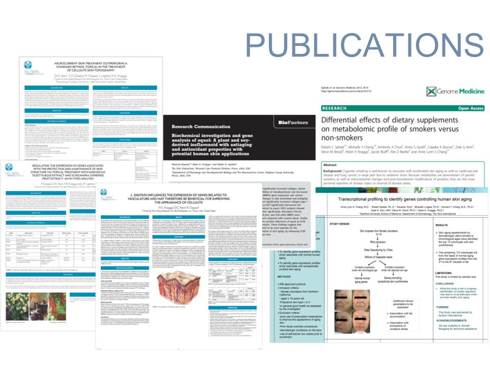 PUBLICATIONS Anti-aging science Anti-Aging Science