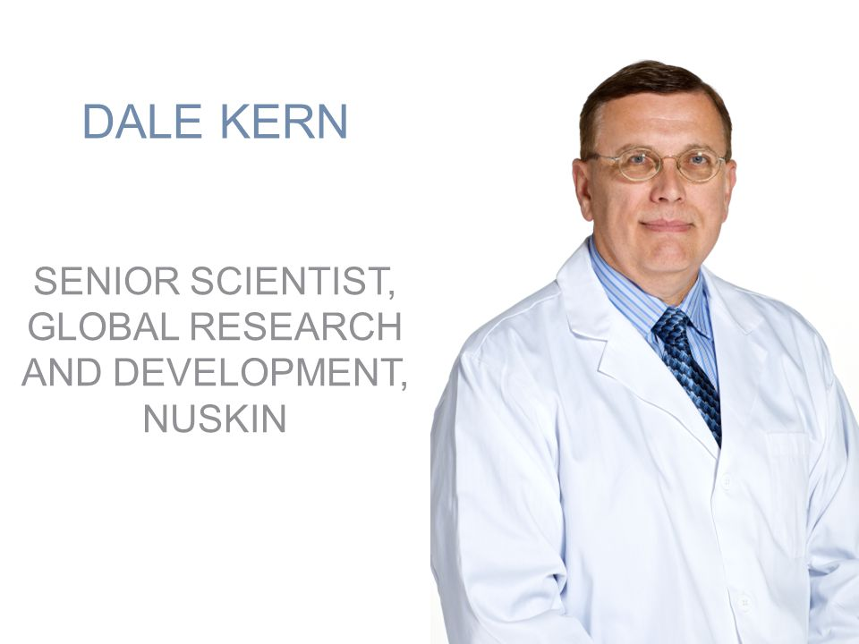 SENIOR SCIENTIST, GLOBAL RESEARCH AND DEVELOPMENT, NUSKIN