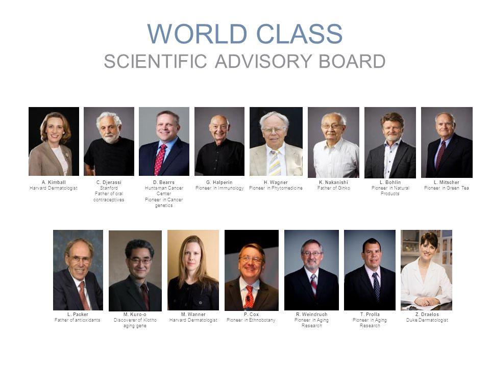 WORLD CLASS SCIENTIFIC ADVISORY BOARD