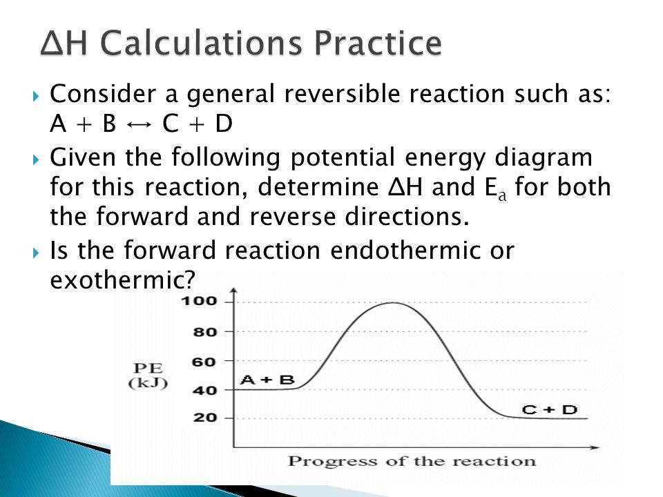 ΔH Calculations Practice
