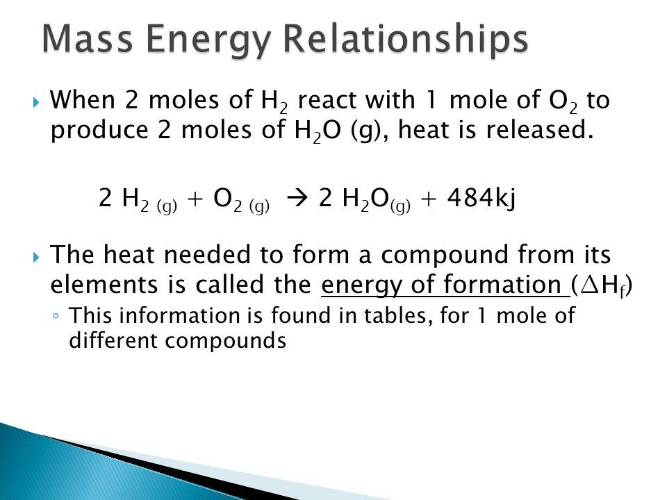 Mass Energy Relationships