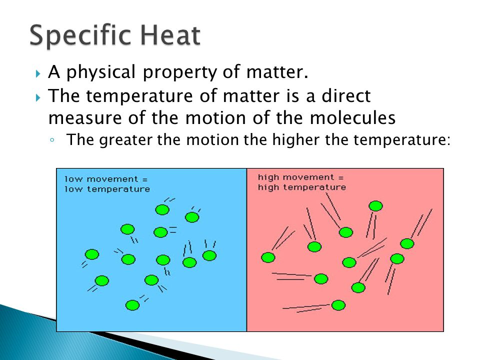 Specific Heat A physical property of matter.