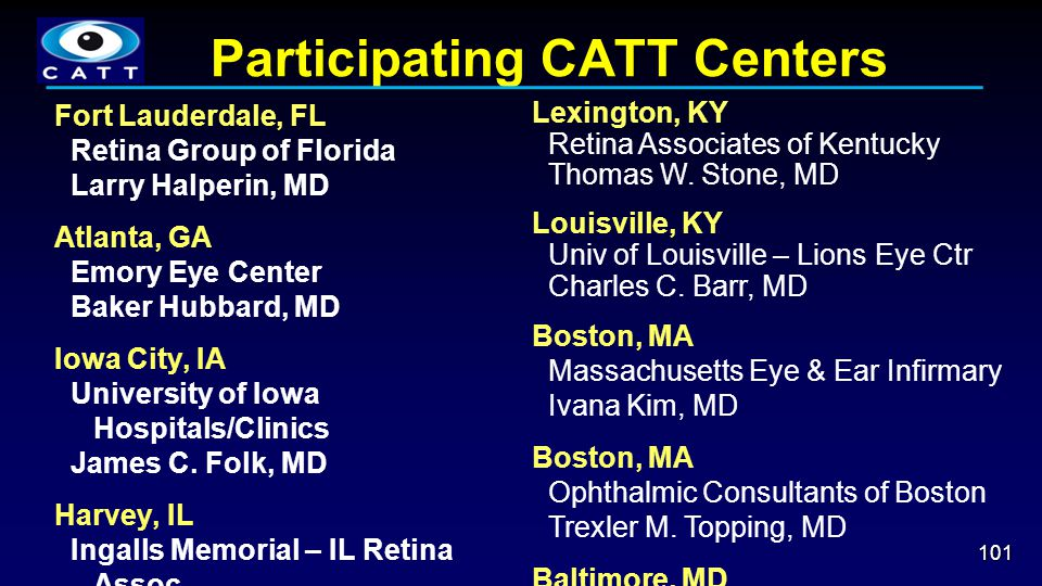 Participating CATT Centers