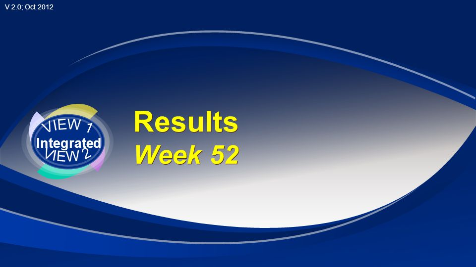 VIEW 1 Integrated VIEW 2 Results Week 52