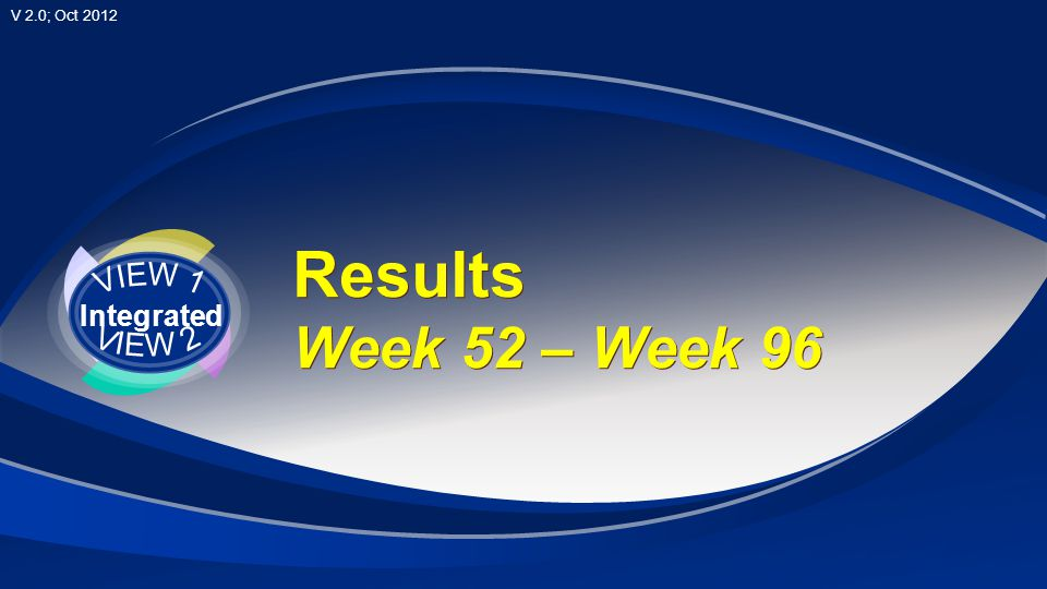 VIEW 1 Integrated VIEW 2 Results Week 52 – Week 96