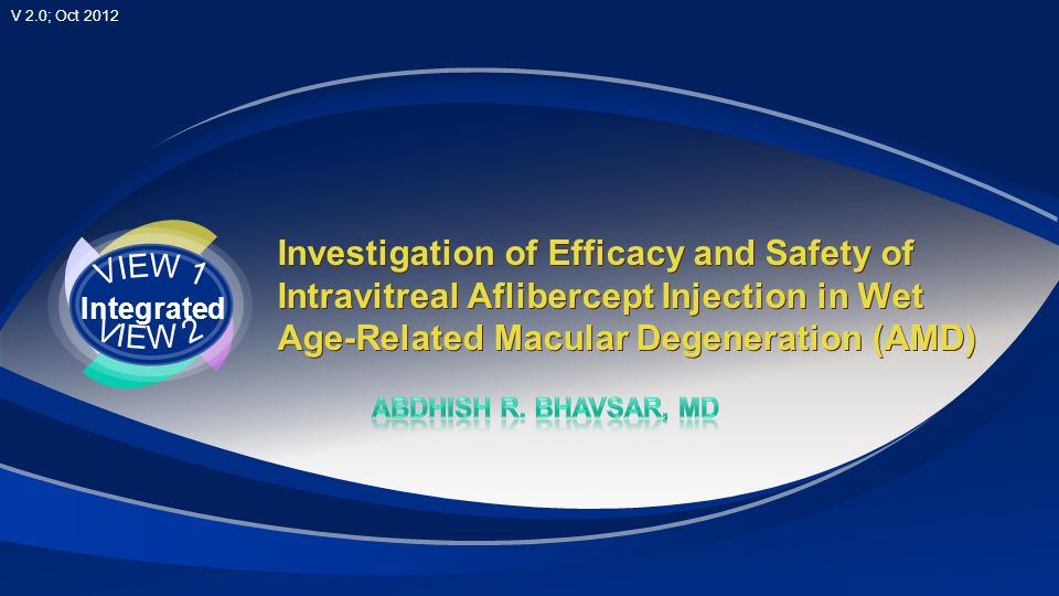 Investigation of Efficacy and Safety of Intravitreal Aflibercept Injection in Wet Age-Related Macular Degeneration (AMD)