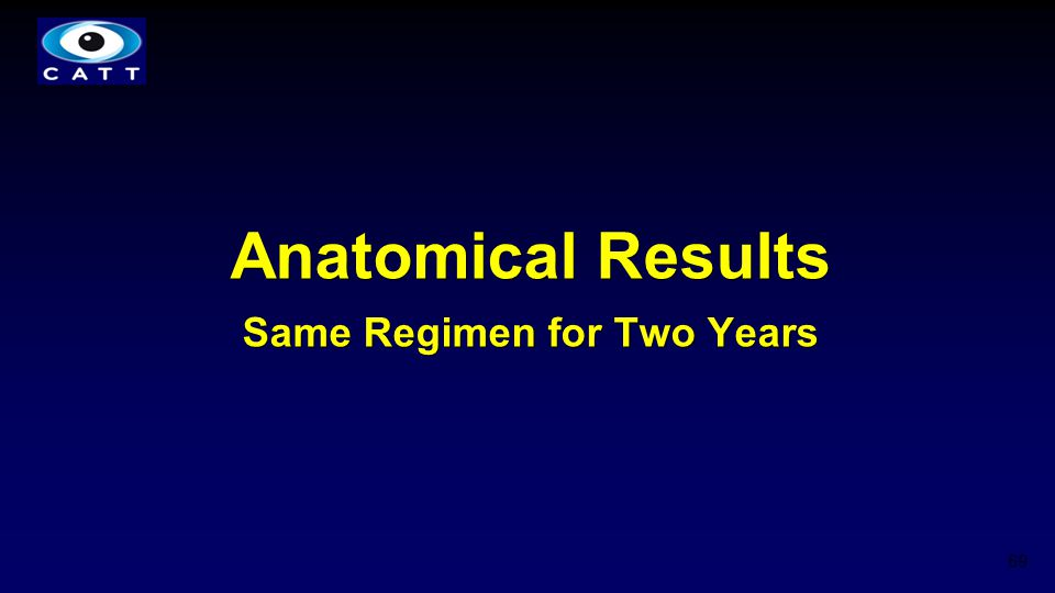 Anatomical Results Same Regimen for Two Years