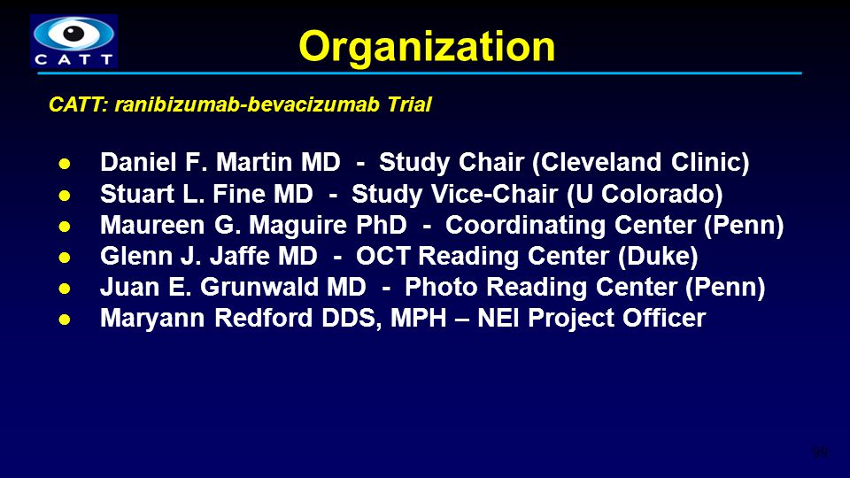 Organization Daniel F. Martin MD - Study Chair (Cleveland Clinic)