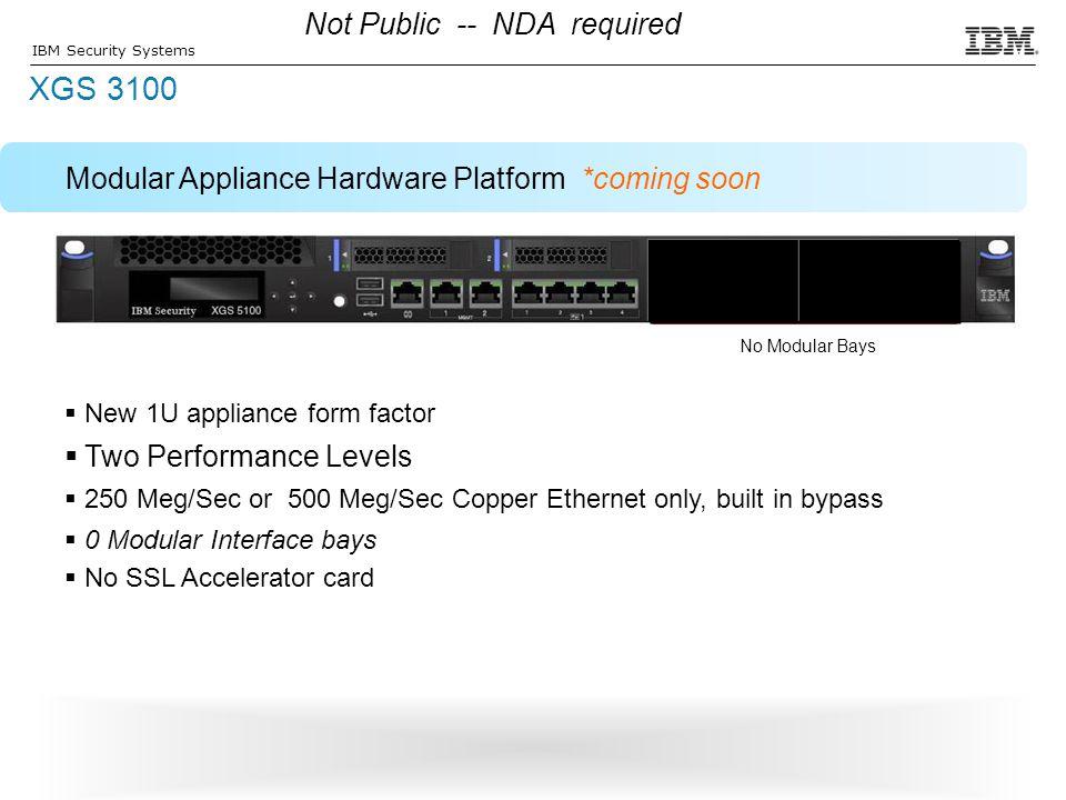XGS 3100 Not Public -- NDA required
