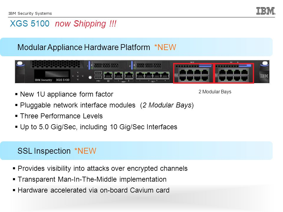 XGS 5100 now Shipping !!! Modular Appliance Hardware Platform *NEW