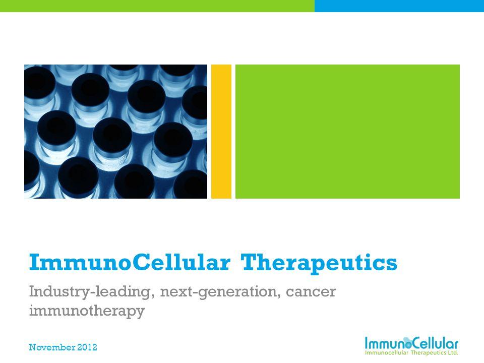 ImmunoCellular Therapeutics
