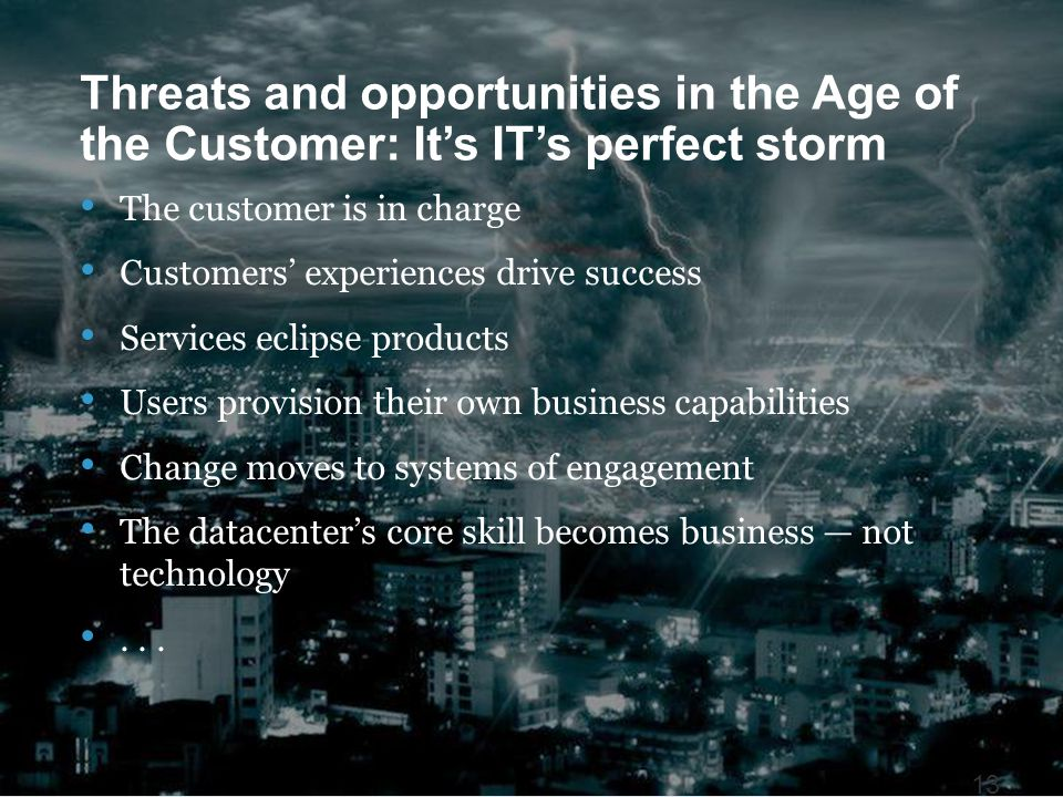 Threats and opportunities in the Age of the Customer: It's IT's perfect storm