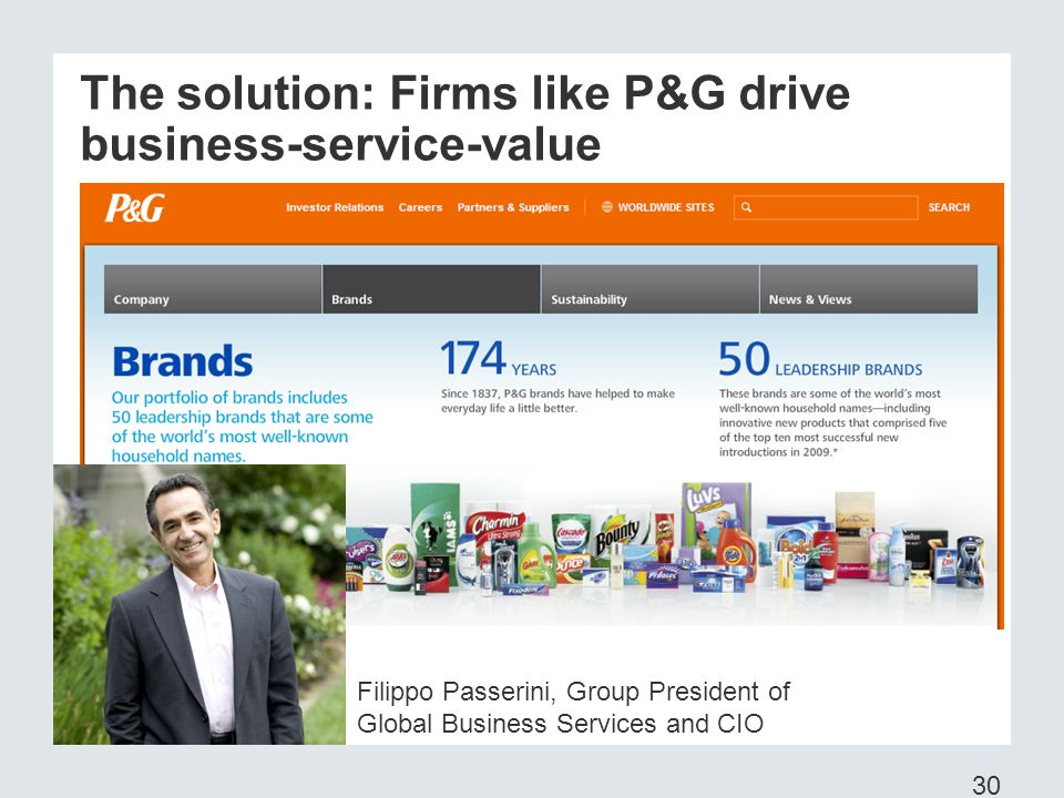 The solution: Firms like P&G drive business-service-value