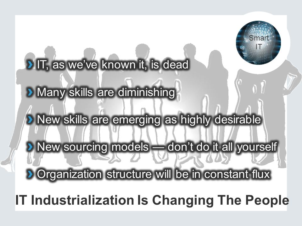 IT Industrialization Is Changing The People