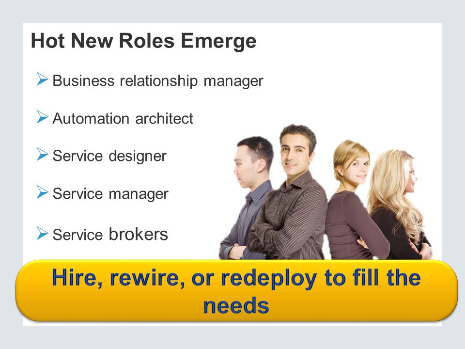Hire, rewire, or redeploy to fill the needs