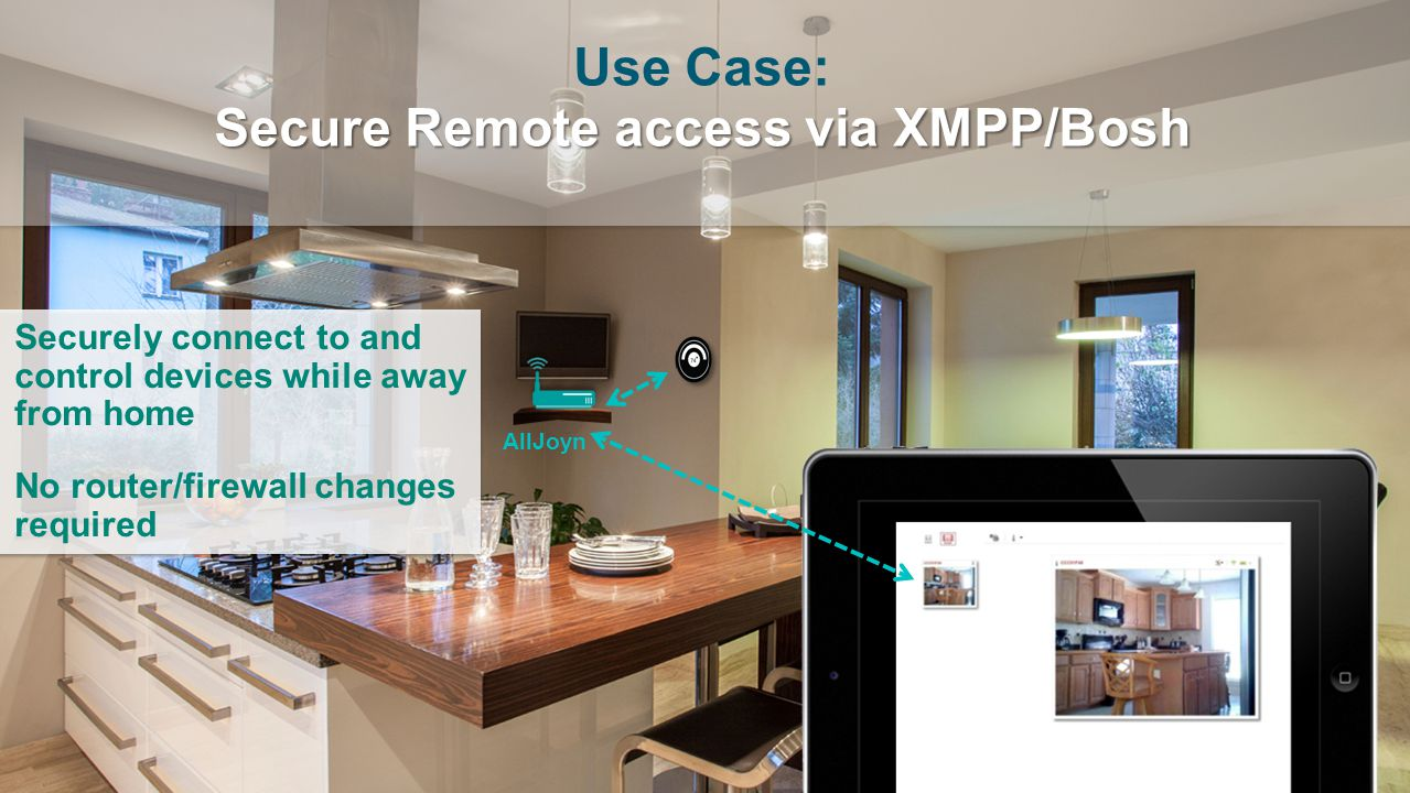 Use Case: Secure Remote access via XMPP/Bosh